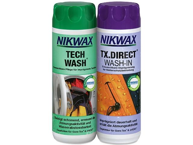 Nikwax Tech Wash + TX.Direct Wash-In 2 x 300 ml farverig (2019) | Personlig pleje
